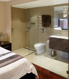 Small Bedroom With Bathroom if not a sliding cavity door, consider an exposed sliding door
