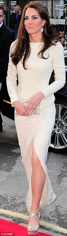 Leading the way: The Duchess Kate Middleton arriving at Claridges early this week (May 10, 2012)
