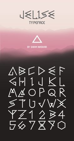 Jelise Typeface by Sham Nasaar.