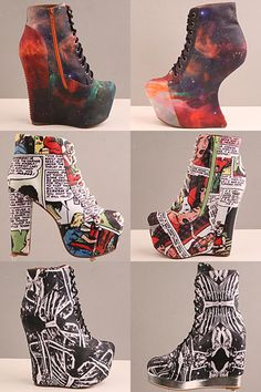 Any Jeffery Campbell shoe is simply amazing! (The galaxy print is my favorite of the three) :)
