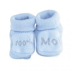 Baby i love maman papa garçon fille chaussettes//chaussons chausson bleu rose un nouveau-né 3 mois