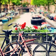 For a relaxing trip head over to the Jordaan district which is full of quaint streets and canal houses or escape the city by heading to Vondel Park.  Just don't forget to switch on your lights at night and use your bell! #amsterdam #netherlands #bikes #citybikes #cycle #holland #urban #travel #healthy #parkinn