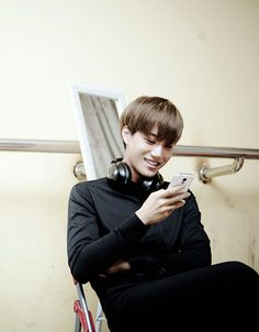 i love this picture of kai.. imagine him just reading your texts or just looking through the candid shots he took of you
