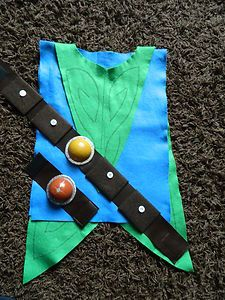 Tree Fu Tom inspired Fancy Dress Costume with belt and wrist band | eBay