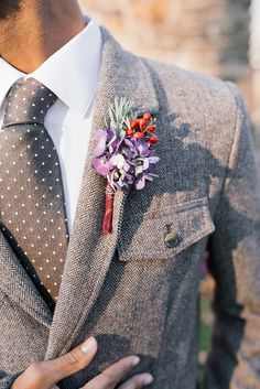 houndstooth and polka dot groom | Kimberly Florence | Glamour & Grace