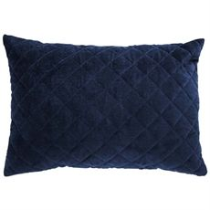 Navy Quilted Velvet Cushion 35cm-cushions-cravehome