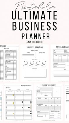 This Business Planner contains everything you need to revamp, grow, and maintain a successful business, along with achieving your financial goals. This Business Planning bundle is for a variety of business types: The Plan, How To Plan, Business Planner, Business Tips, Successful Business, Bookkeeping For Small Business, Event Planning Business, Small Business Marketing, Business Journal