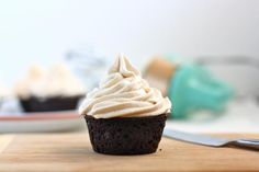 chai buttercream. cupcakes leave much to be desired, but buttercream is to die for. I've made it with vegan butter and regular butter, both are great, regular butter is better though, i guess that goes without saying..