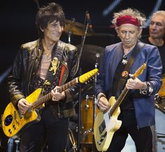 Keith and Ronnie. The Rolling Stones. #TheRollingStones #KeithRichards #RonnieWood #CharlieWatts #MickJagger