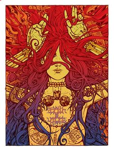 'Faith No More at Red Rocks Amphitheatre in Denver' Concert Poster by Malleus