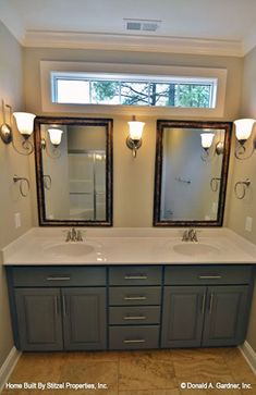 House Plans - The Tanglewood - Home Plan 757 Small Bathroom Window, Laundry Room Bathroom, Bathroom Photos, Bathroom Windows, Master Bathroom, Bathroom Ideas, Bathroom Vanities, Bath Ideas, Shaw House