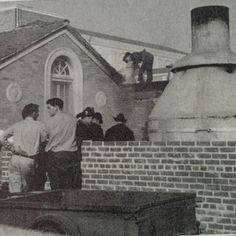Out Side Fresno High School's Kitchen 1930's
