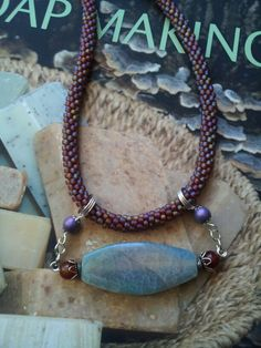 kumihimo necklace by MaCheri Designs
