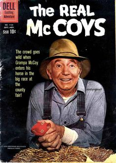 The Real McCoys Reproduction Comic Book Cover by naturepoet, $5.00 Vintage Comic Books, Vintage Tv, Vintage Hollywood, 1960s Tv Shows, Vintage Television, Old Comics, Old Shows, Great Tv Shows, Tv Guide