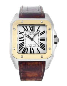 Cartier Santos 100 W20072X7. Looks great in a brown leather strap.