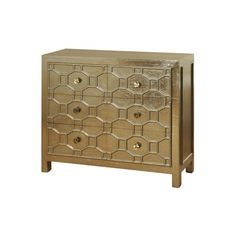 6 Drawer Chest with octagon drawer panel relief