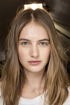 The simple beauty look bckstage at Isabel Marant Spring 2016