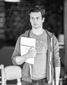 Jonathan Groff: Rehearsals for How To Succeed at the Festival Hall. Jonathon Groff, Glee Wedding, Festival Hall, Harry Potter, Storybook Characters, And Peggy, People Of Interest, Dear Future Husband, Lin Manuel Miranda