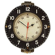 """Pendulux Marine Decorative Wall Clock, Vintage Unique Wall Clock for Outdoor and Home Decor, Gray - 13"""" diameter #Clock #Décor #Decorative #Diameter #Gray #Home #Marine #Outdoor #Pendulux #RusticGrandfatherClock #Unique #Vintage #Wall The Rustic Clock"""