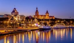 Szczecin by Artur Magdziarz on The Beautiful Country, Beautiful Places, Poland Cities, Places Around The World, Around The Worlds, Poland Travel, Holiday Places, Central Europe, Krakow