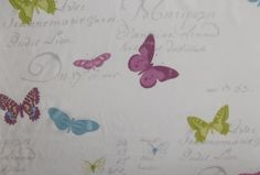 Stof Butterfly Voile White | Textile Express | Buy Fabric Online