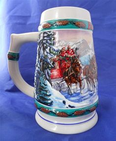 vintage christmas tree beer stein | christmas tree farm ...
