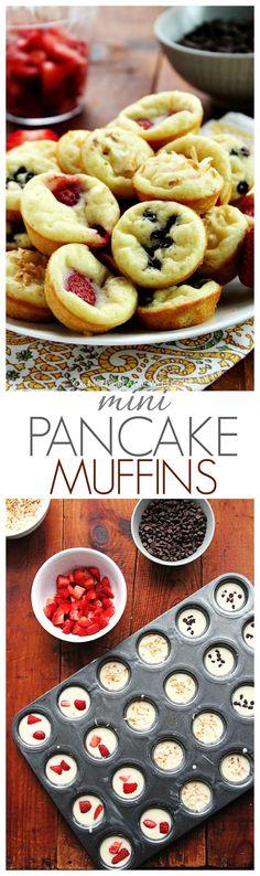 Mini Pancake Muffins break the rules and bake pancakes in a muffin pan for this fun breakfast idea crunchycreamysweet.com  304x1024 Mini Pancake Muffins
