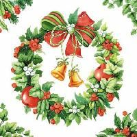 2304 Servilleta decorada Navidad