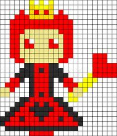 Red Queen perler bead pattern