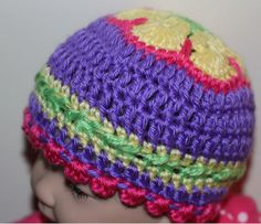 I Love the colors in this baby hat!! So beautiful!!  --- African Flower Cap Baby Hat Crochet Baby Hat by SweetnessInSmyrna, $24.99