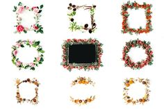 SALE: 25 floral frames bundle #1 by Floral Deco on @creativemarket