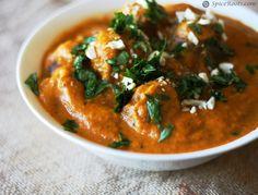 Malai Kofta (Deep Fried Paneer/Ricotta Cheese Balls in a Smooth, Creamy, and Rich Gravy).