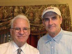 Steve Martin and James Taylor