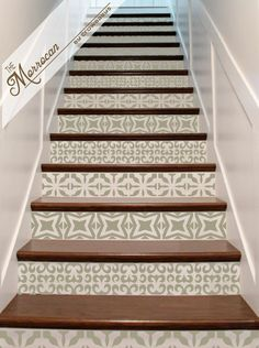 Vinyl Stair Decals  Riser 'Tiles' . Staircase Decal by crowbabys