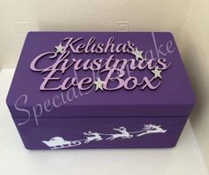 Personalised Christmas Eve box www.facebook.com/SpecialKeepsake