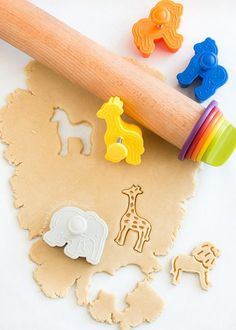 Recipe for homemade animal cookies (Bake. Love. Give.) Gotta get these cutters!