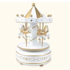 Music Boxes 1pc Wooden Merry-go-round Carousel Music Box Kids Toys Gift Wind-up Musical Box Handsome Appearance Collectibles