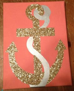 Glitter Anchor Canvas on Etsy, $24.00