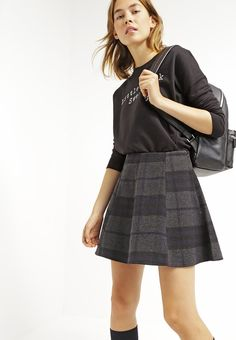 ONLY ONLKIM - Mini skirt - dark grey melange - Zalando.co.uk