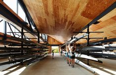 Studio Gang Architects recently completed the WMS boathouse in Clark Park, a state of the art rowing facility that helps revitalize the Chicago river.