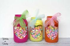 Valentine Mason Jar Heart Gifts :: Hometalk
