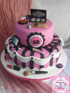 Make up cake.... torta para una diva...