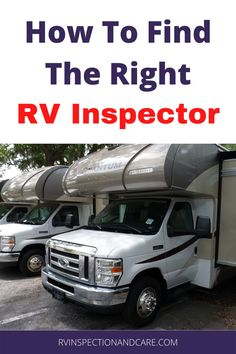 Before you buy your dream RV, make sure that you get it inspected thoroughly. But what kind of RV inspector should you choose? And when should you call them in to inspect the RV you may purchase? A certified RV inspector answers these questions for you now! #rvinspection #rvinspector #rvbuying Small Rv, Small Campers, Rv Tips, Camping Tips, Life Tips, Life Hacks, Self Build Campervan, Motorhome Travels, Class B Rv