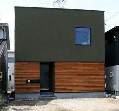 f:id:oroshinoie:20170501171924j:image Exterior Wall Design, Interior And Exterior, Compact House, Interesting Buildings, Japanese House, Facade Architecture, Facade House, Black House, Building A House