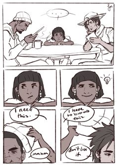 Overwatch reaper /Gabriel and mccree and young pharah Overwatch Fan Comics, Overwatch Hanzo, Overwatch Reaper, Overwatch Memes, Overwatch Fan Art, Video Games Funny, Funny Games, Pokemon Manga, Offensive Humor