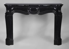 Large antique Pompadour Louis XV style fireplace made out of Black from Belgium #marble (Reference 2748) - #Antique #fireplace #LouisXV #classic #interior #decor #interiordecoration #interiordesign Available on #MarcMaison website