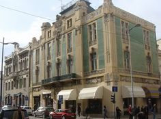 """In 1907 on the corner of Kralja Petra and Uzun Mirkova Streets in Belgrade a building was erected by Nikola Nestorović and Andra Stevanović, called """"House with green tiles"""". The architect accepted the basis of secession style not only in the decorative elements but also in the entire composition. The use of the green ceramic tiles, the beautiful cast-iron balconies and roof balustrade and the combination of upright lines and florea decoration make it a stunning building. ~ Serbia"""