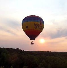 Hot air balloon over Michigan
