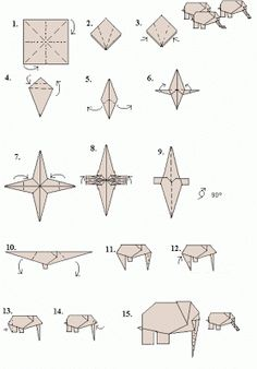 How to make an origami elephant   origami   pinterest   origami.