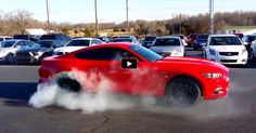 2015 Mustang GT Performance Pack Burning Rubber